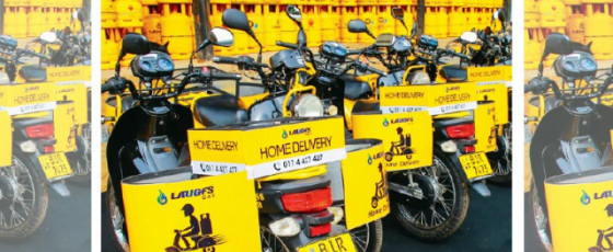 LAUGFS Gas  distributes special bikes to home  delivery dealers