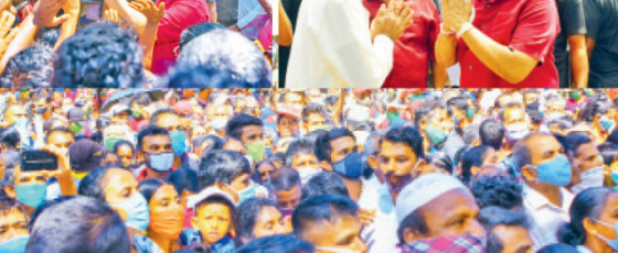 A sea of people to see the President in Polonnaruwa