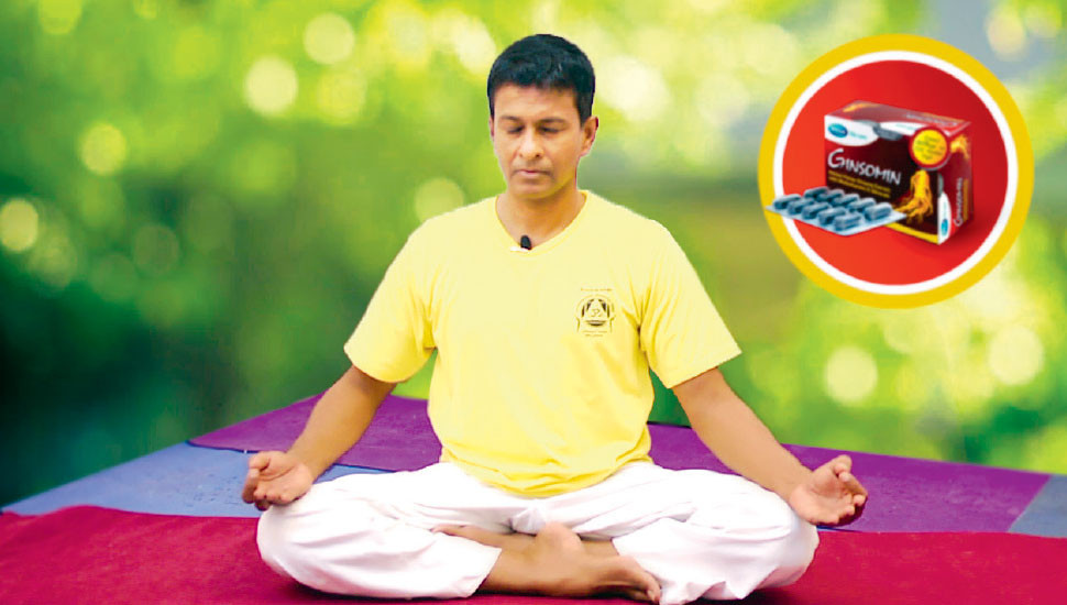 Ginsomin conducts online yoga practices