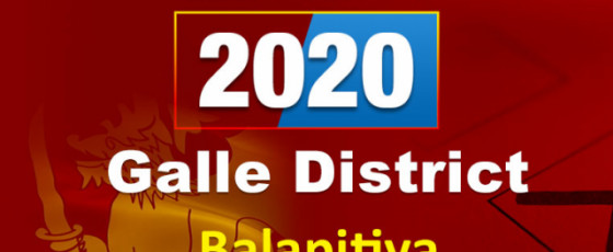 General Election 2020: Galle District - Balapitiya electorate