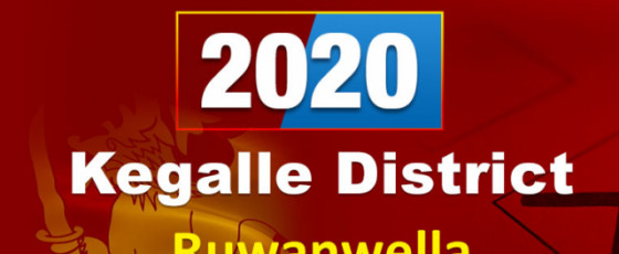 General Election 2020:  Ruwanwella electorate - Kegalle District