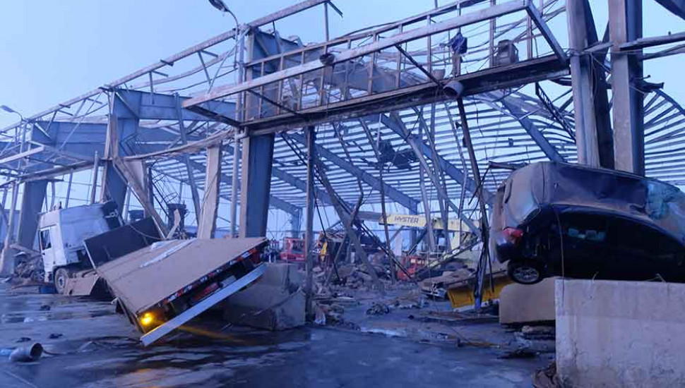 Orient Queen cruise ship damaged in Beirut explosion