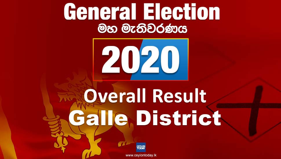 General Election 2020: Galle District