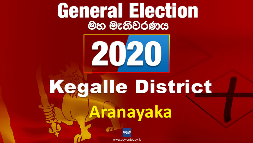 General Election 2020: Aranayake electorate - Kegalle District