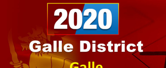General Election 2020: Galle District - Galle electorate