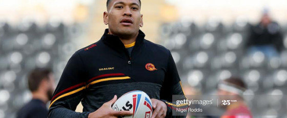 Black Lives Matter: Folau  remains standing as team mates kneel