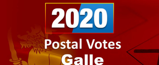 General Election 2020: Postal votes - Galle District