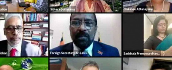 Foreign Secy featured on SL Foreign Policy webinar