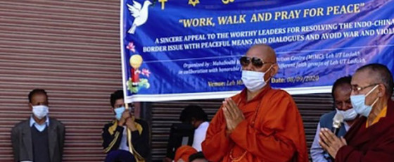 Ladakh Buddhist Monk Leads Campaign for Peaceful  Resolution of Border Conflict