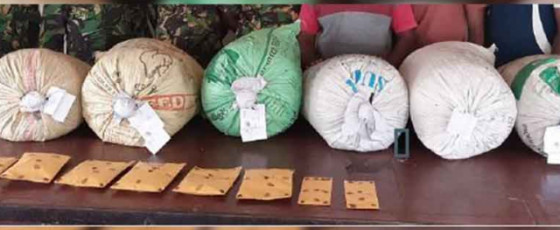Man arrested with 97kg of cannabis