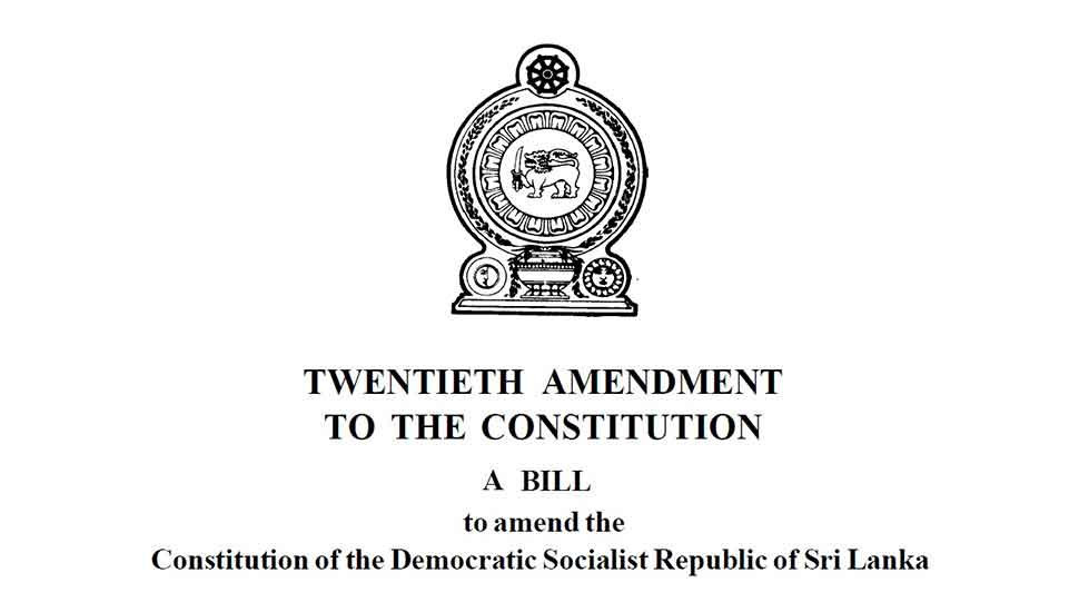 All amendments to 20A should be presented before 6 p.m. today: Speaker