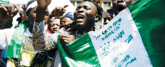 Waving Flags, They Sang Nigeria's Anthem. Then They Were Shot At