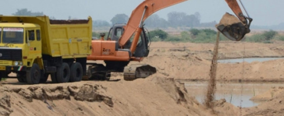 Sand to be transported by train from next month