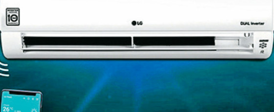 LG Dual Cool Inverter WI-FI ACs from Abans
