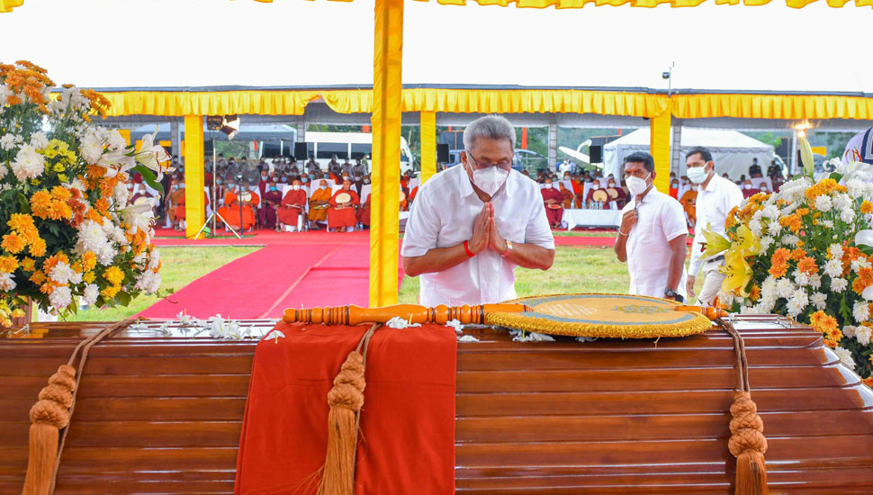 Late Mahanayake Thera  protected Buddhism - President