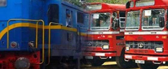 Train, bus services to resume today