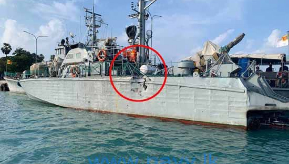 Indian trawlers slams into Navy ship before sinking
