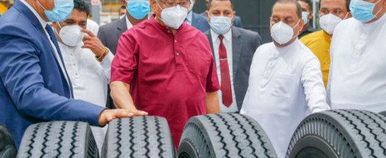 President opens largest tyre factory in South Asia