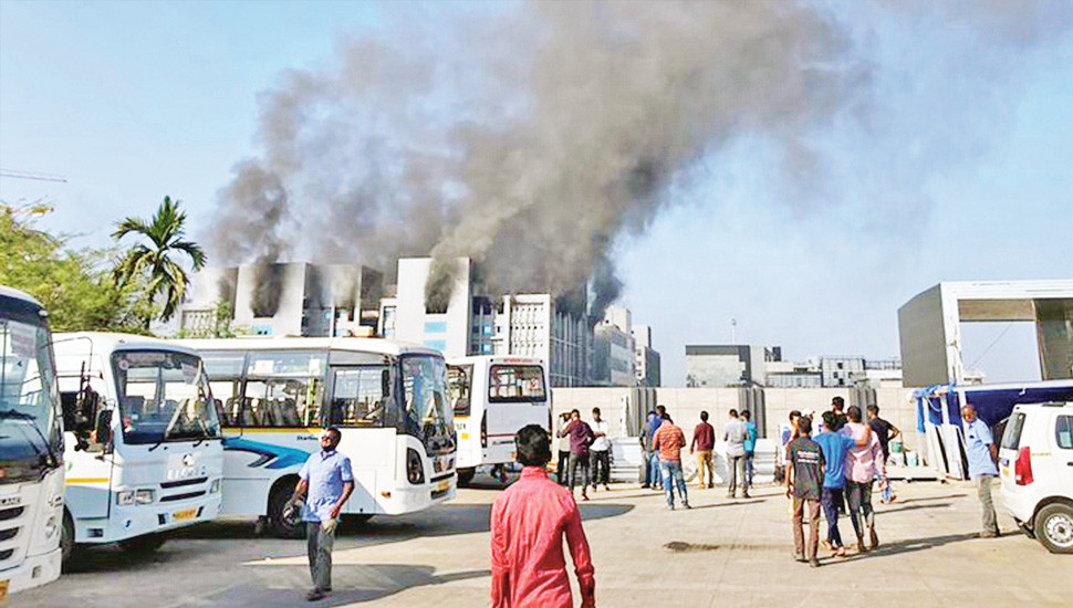India's COVID-19 vaccines factory in flames