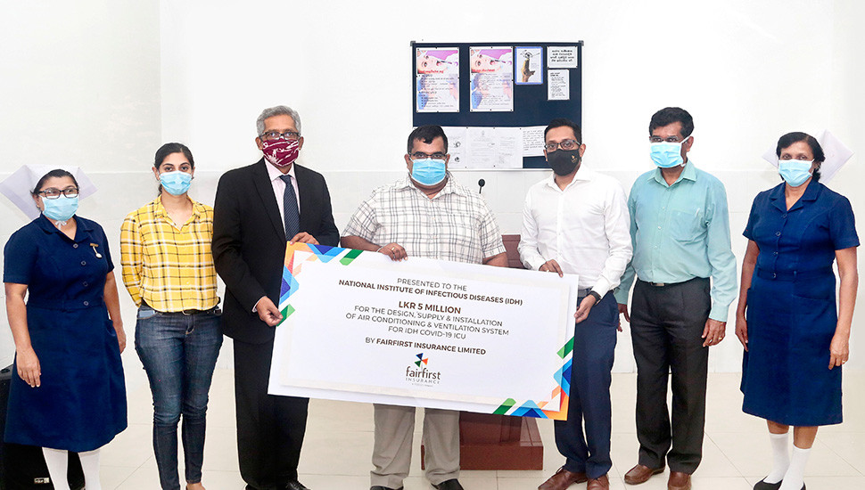 Sunshine Holdings, Fairfirst Insurance donate Mechanical Ventilation and Air Condition System to IDH