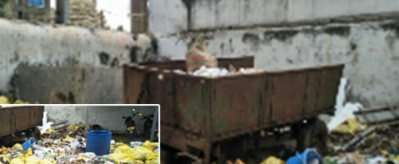 Uncollected  garbage at Galle Prison posing health risk