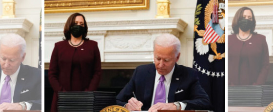 Biden Signs 10 Executive Orders as Part of 'Wartime' Covid Plan