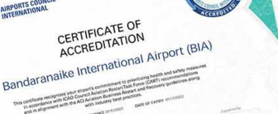 BIA receives 'Certificate of Accreditation' from ACI