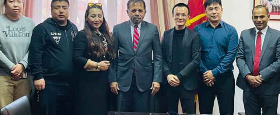 Sri Lankan representatives meets with Chinese Covid-19 vaccine producers