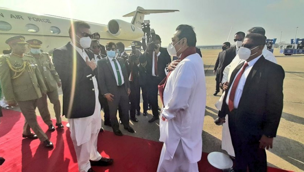 Imran Khan arrives in the island