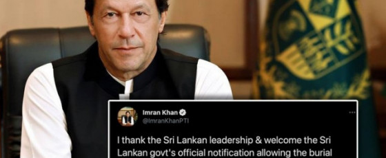 Pakistani PM applauds SL decision to allow burials