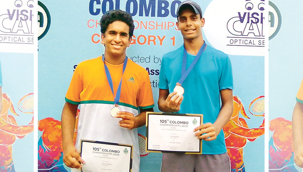 Unstoppable Chathurya, Thehan  combination  grabs another doubles title