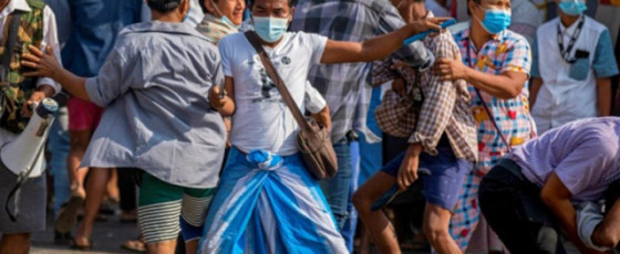 Clashes in Yangon As Facebook Bans All Myanmar  Military Accounts