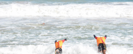 Bentota Coastguards save six lives