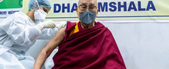 Dalai Lama gets his first Covid vaccination