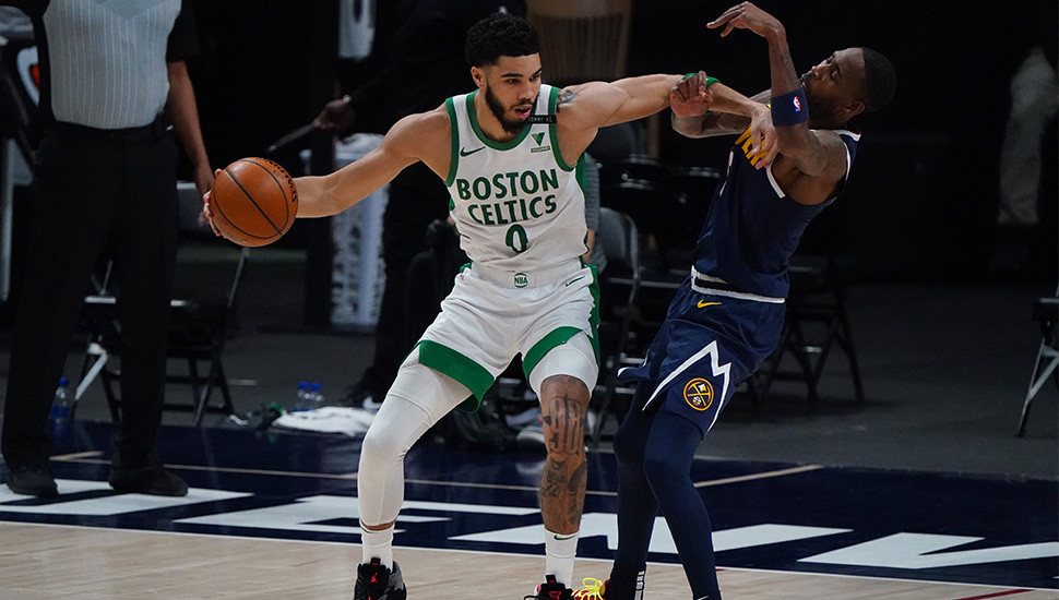 Celtics use huge second-half run to topple Nuggets