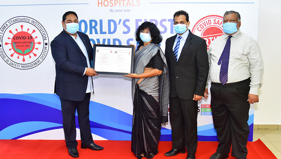 First hospital to obtain COVID-19 Safety Certification