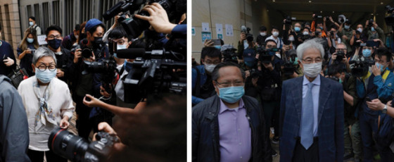 Veteran Hong Kong  Democracy Politicians in Court for Sentencing