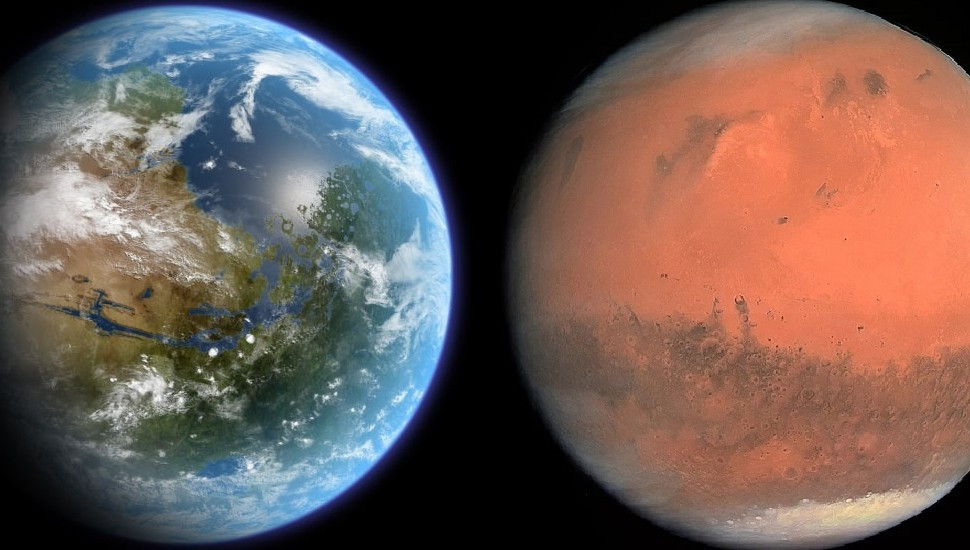 Water is still trapped on the Red Planet