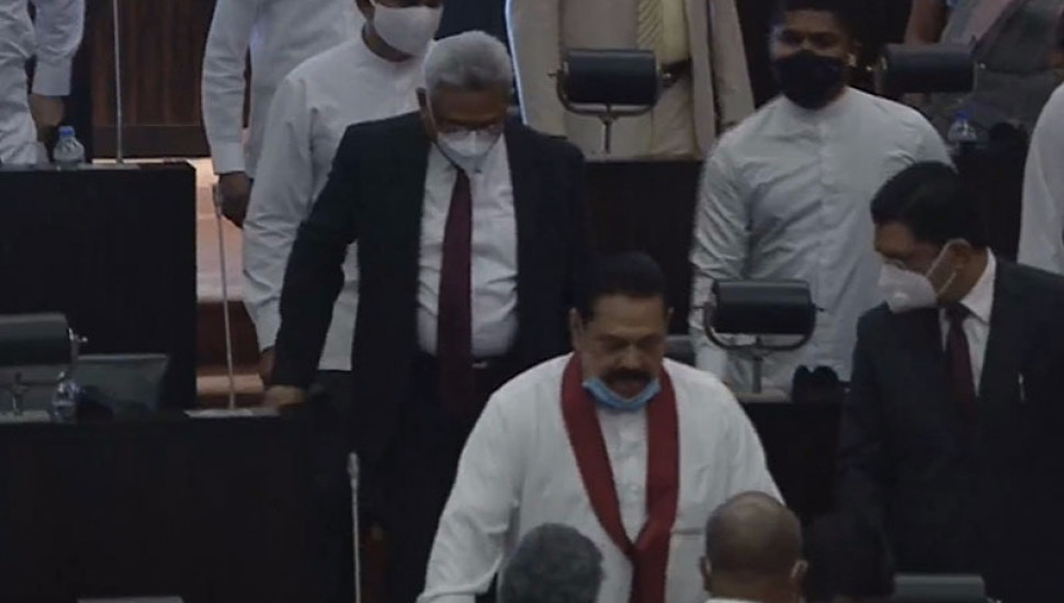 President in  Parliament today