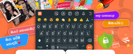 Launches smartphone keyboards in local language