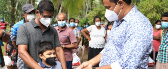 35,000 Families get dry rations in Kalutara