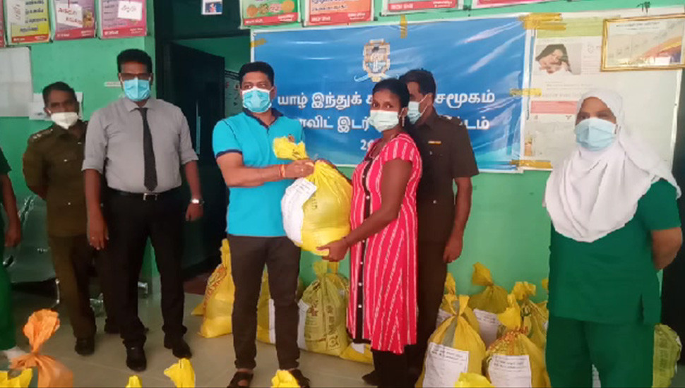 Jaffna Hindu College sends relief to 108 families