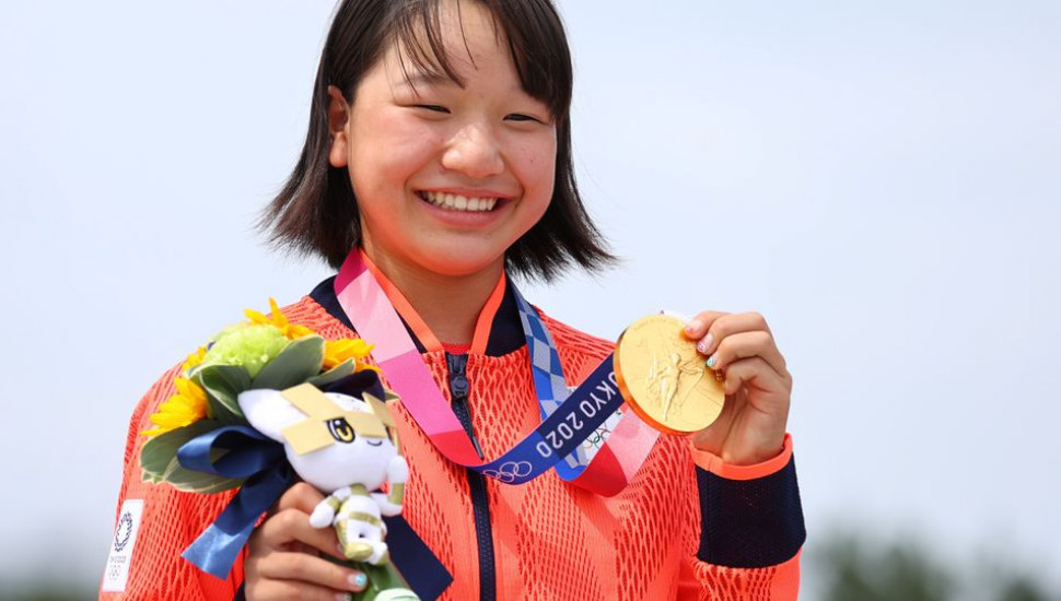 Japan's Momiji Nishiya bags first-ever Olympic gold in street skateboarding at just 13