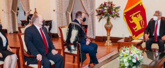 Two new Envoys present credentials