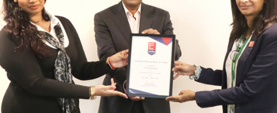 Standard Chartered Sri Lanka Certified for Third Consecutive Year