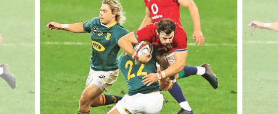 Lions roar back in second half to win first test