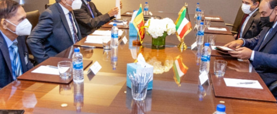President holds bilateral discussions with Kuwait PM