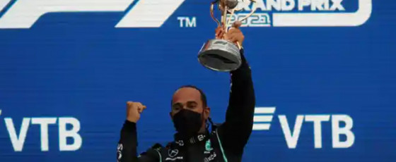 Hamilton claims 100th F1 win with victory in Russia