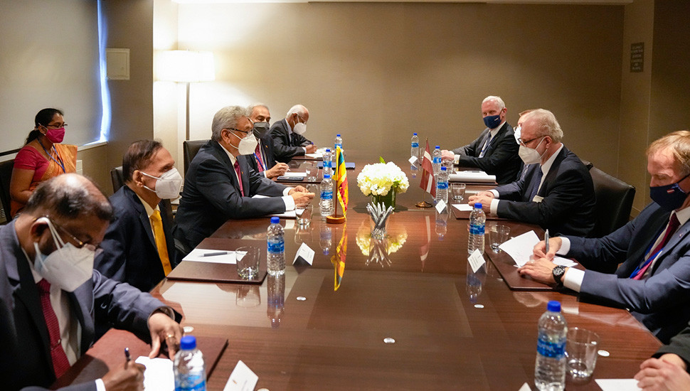 76th UNGA session: President meets Latvian counterpart