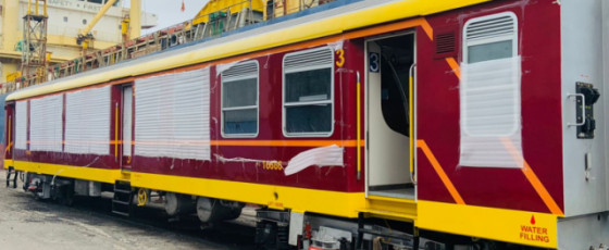SL receives 20 state-of-the-art Indian train coaches